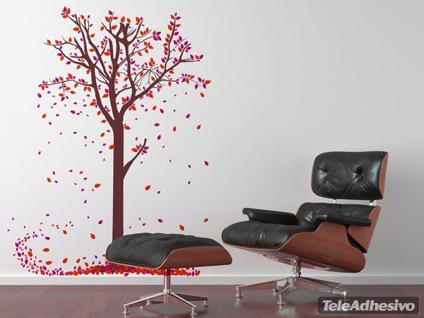 Adesivi Murali foglie degli alberi