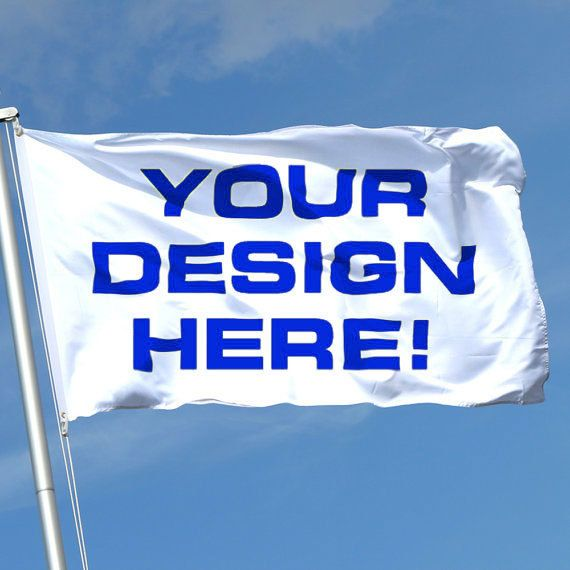 custom flag made to order 3ftX5ft reverse side by customflag