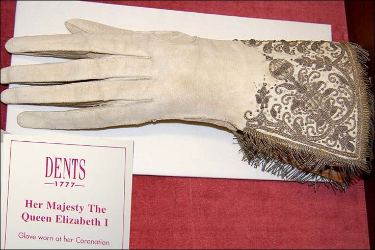"""Gloves of Elizabeth The First.  """"Her hands were slender,her fingers rather long"""" - Paul Hentzner, German Visitor To Greenwich Palace, 1598."""
