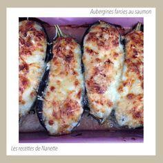 Aubergines farcies au saumon