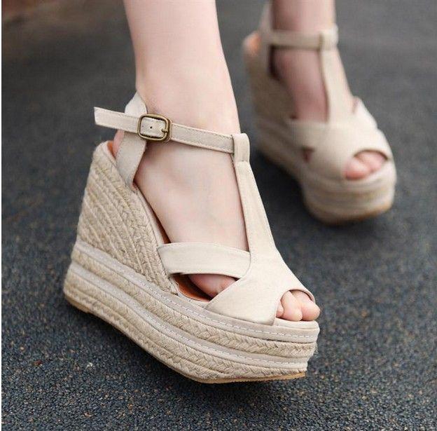 sandalias  de  estilo modelo  de color albaricoque  vende  bien  para  mujeres