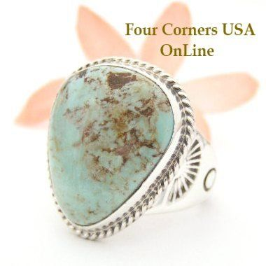 Four Corners USA Online - Men's Dry Creek Turquoise Ring Size 10 Navajo Tony Garcia American Indian Silver Jewelry NAR-1460, $204.00 (http://stores.fourcornersusaonline.com/mens-dry-creek-turquoise-ring-size-10-navajo-tony-garcia-american-indian-silver-jewelry-nar-1460/)