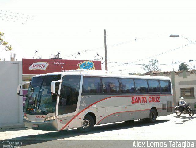 Ônibus da empresa Viação Santa Cruz, carro 8350, carroceria Busscar Vissta Buss LO, chassi Mercedes-Benz O-500RS. Foto na cidade de Três Corações-MG por Alex Lemos Tatagiba, publicada em 07/07/2017 22:23:23.