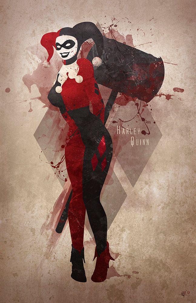Original Giclee Art Print 'Harley Quinn' by DigitalTheory on Etsy