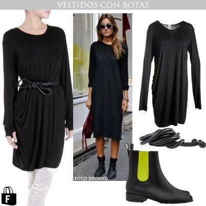 Vestidos con botas, disponibles en www.tiendafucsia.co