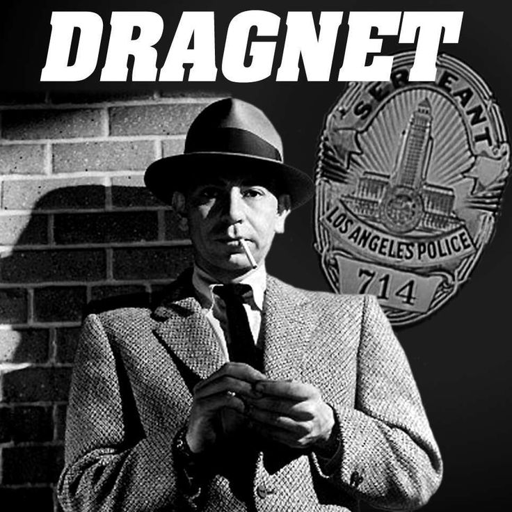 "Dragnet"" is adapted from the famous 1950's and '60s TV cop show of the same name. Description from rockloveaustin.com. I searched for this on bing.com/images"