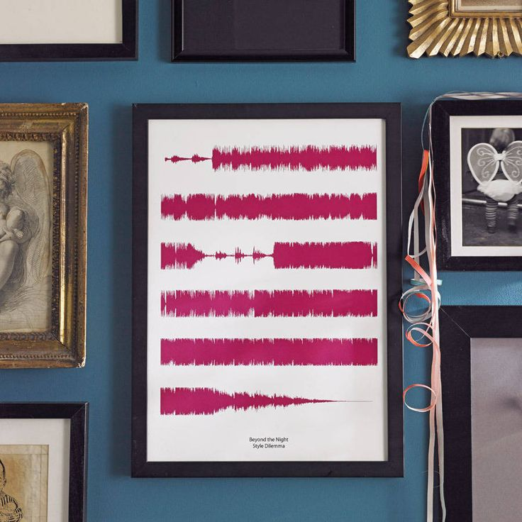 personalised favourite song soundwaves print by house of yve | notonthehighstreet.com