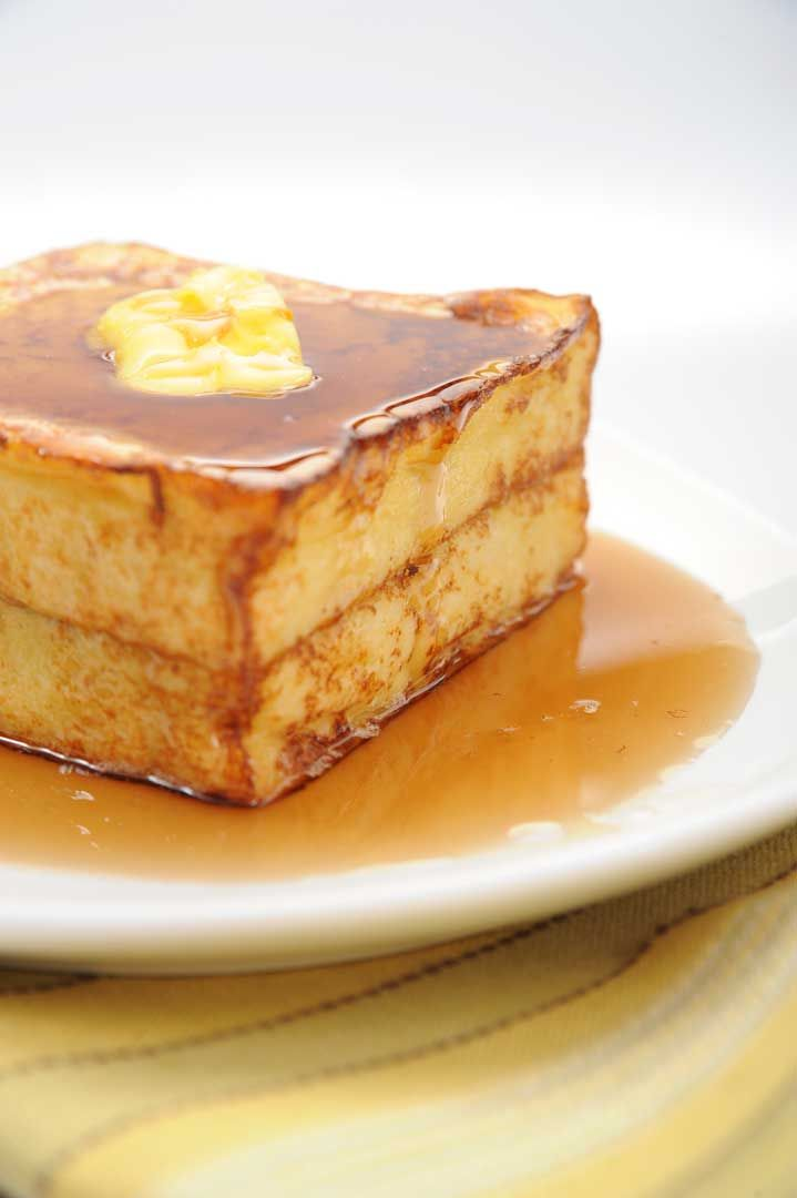 Hong Kong french toast - but with sweetened condensed milk instead of syrup. Yum!