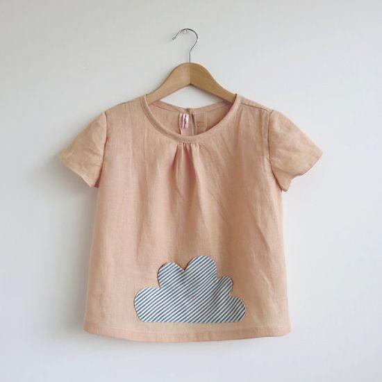 Swallow's Return clothing – Handmade Girls Retro Fashion – Liberty Print Girls Shirt | Small for Big