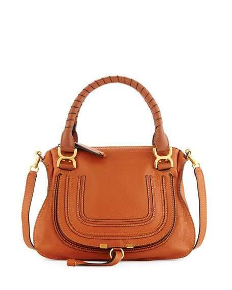Chloe 'Marcie' medium satchel in tan