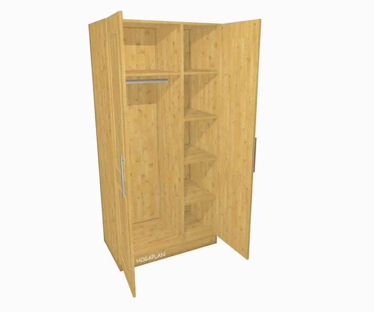 die besten 25 kleiderschrank 2 t rig ideen auf pinterest. Black Bedroom Furniture Sets. Home Design Ideas