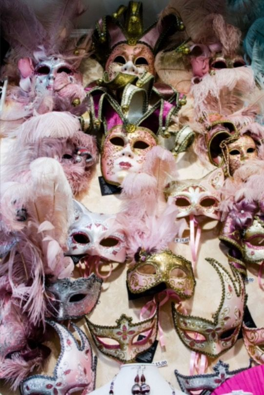 """These Venetian masks are from our feature """"48 hours in Venice"""""""