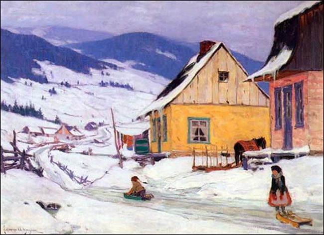 Sled rides in winter by Clarence Gagnon