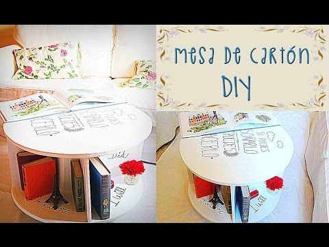 MUEBLE - MESA DE CARTÓN - ★DIY★ CARDBOARD FURNITURE TUTORIAL - YouTube