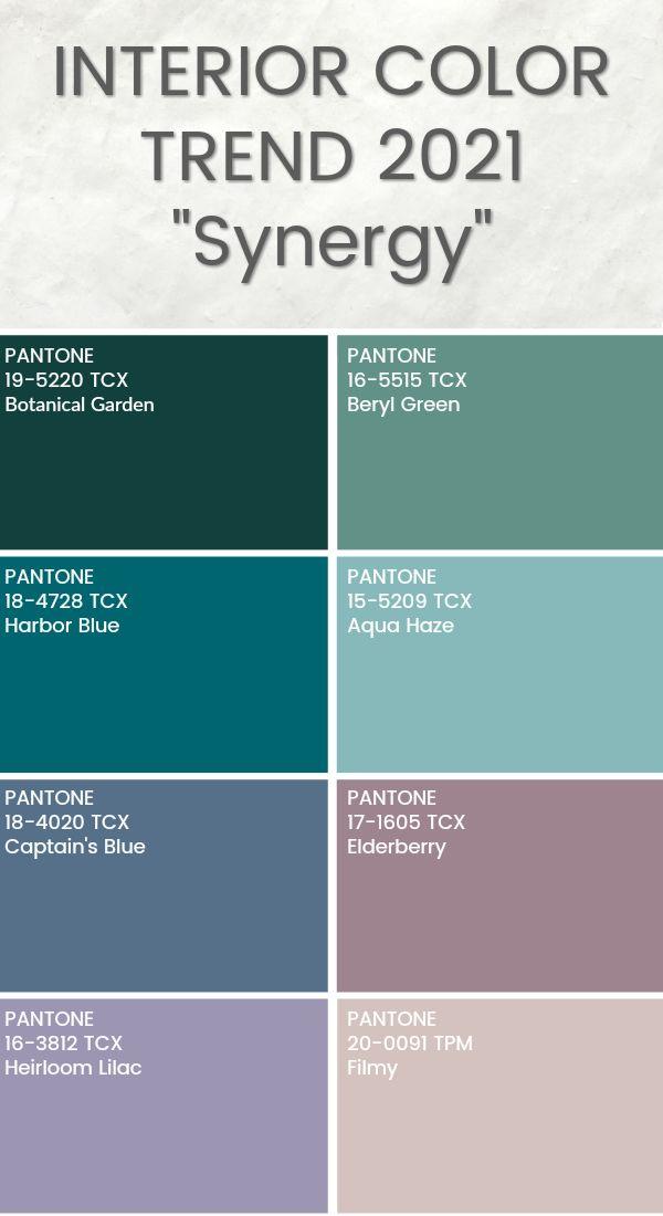 Interior Color Trend 2021 Pantone Color Interior Trend In 2020 Design Color Trends Color Trends Trending Paint Colors,Combination Green And Blue Color Palette