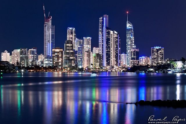 The Gold Coast at night.