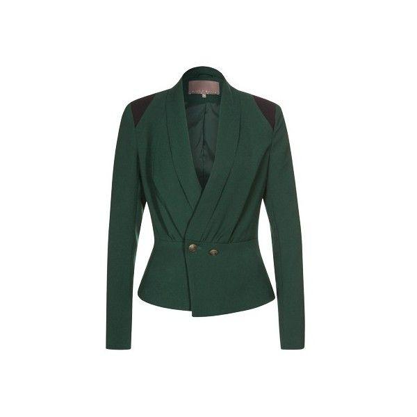 Blazer mit Schalkragen - mint&berry ❤ liked on Polyvore featuring outerwear, jackets, blazers, green jacket, mint jacket, mint green jacket, mint blazer and mint green blazer