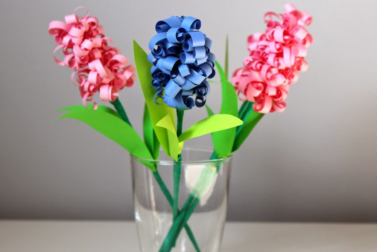 Hiacynty z papieru / Paper hyacinth (curly paper flowers)