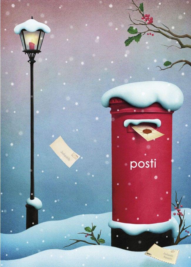 """Joulupostin aika lähenee! Anki :: Nro 2 Joulukortti """"Joulun taikaa"""" - Joulu"""