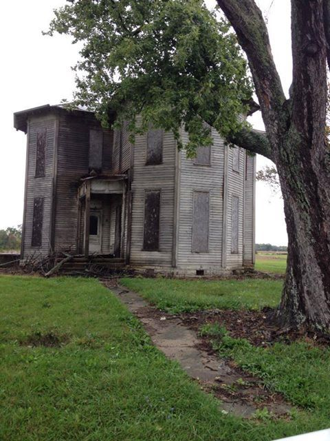 Ohio Farm House- the length of the windows, which most are now boarded up- are…