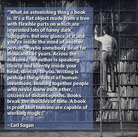 Carl Sagan Love Quote: Books....you Know, Those Things
