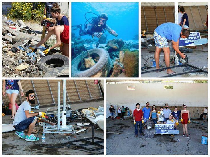#bodrumdagüzelşeyleroluyor: Denizden çıkarılan atıklar sanat eserine dönüşüyor Bodrum Belediyesi personelinden oluşan gönüllü dalış ekibinin çalışmalarıyla devam eden deniz dibi temizliğinden çıkarılan atıklar, düzenlenen yarışma ile sanat eserine dönüşecek. Yarışmaya katılan heykel bölümü öğrencileri, atık malzemeleri seçerek çalışmalarına başladı. #dalgabeach #bodrum #yeşilbirdünyaiçin #denizkumgüneş #çevre #greenworld #energy #summer #wastetoart