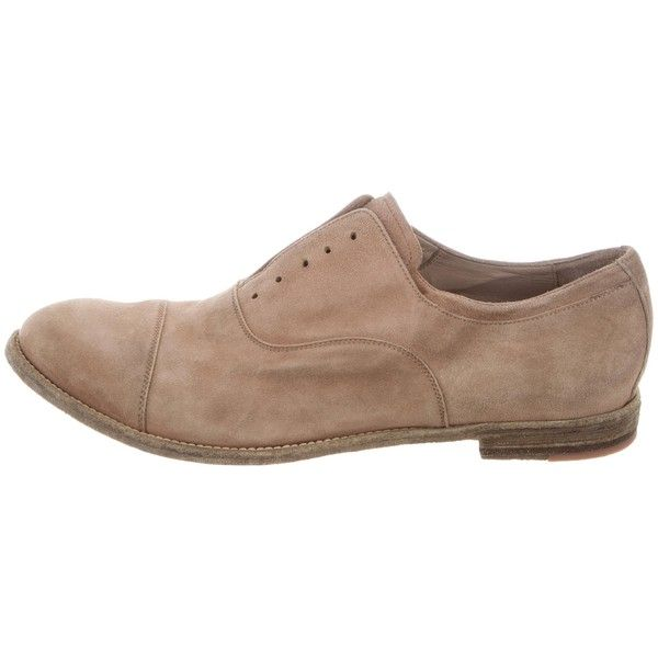 Pre-owned Officine Creative Suede Archive Oxfords (4,180 MXN) ❤ liked on Polyvore featuring men's fashion, men's shoes, men's oxfords, brown, mens brown suede shoes, mens shoes, mens suede shoes, mens suede oxford shoes and mens brown oxford shoes