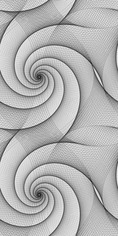 Seamless abstract black and white spiral pattern design