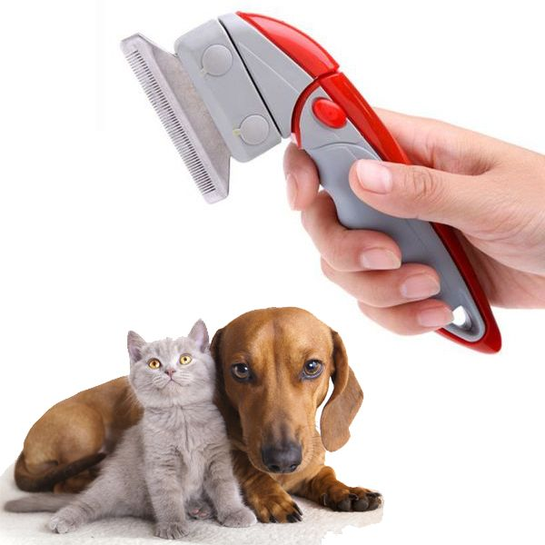 Deluxe Shed Ender Professional De-Shedding Tool With Pivoting Head For Pets from eFizzle