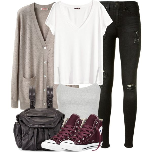 Isaac Inspired Outfit with Red High Top Converse by veterization on Polyvore featuring moda, H&M, Organic by John Patrick, rag & bone, Converse, Alexander Wang, Topshop, women's clothing, women's fashion and women