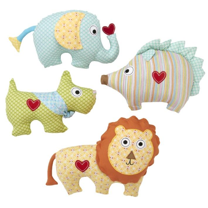 Happi Animal Pillow Asst 4 Designs © Twos Company