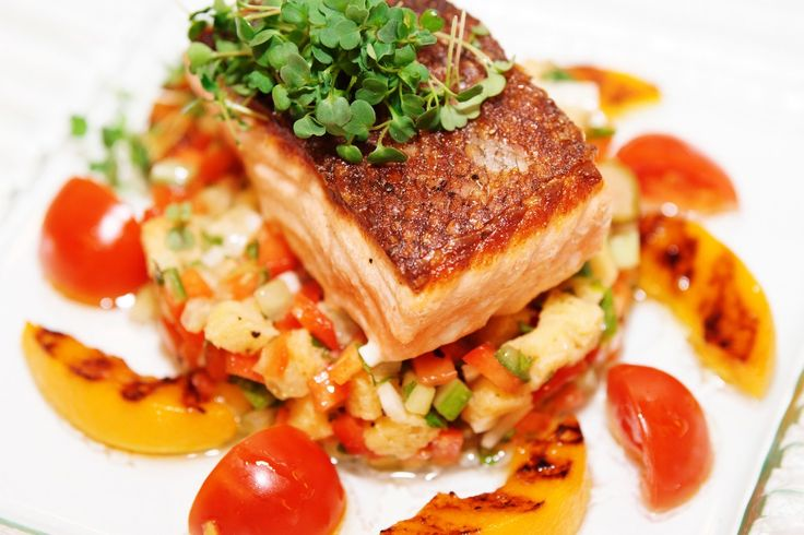 It's summer. That means come dinner time, you'll find me enjoying tasty salmon dishes on my deck. Here are 25 recipes for you to try.   1. Wolfgang Puck's Sm