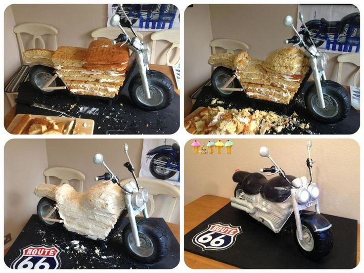 3D motorcycle cake tutorial | ft 3D Motorbike Cake - by tastycakes @ CakesDecor.com - cake ...