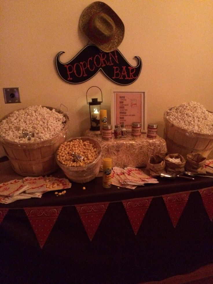 Second Popcorn Bar Western Hoedown Theme Party
