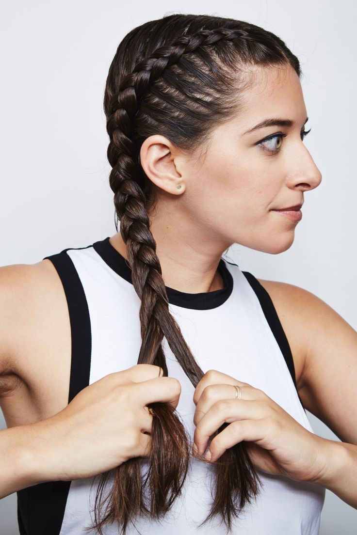 French braiding tips - Feel Balanced At Yoga With These Double Dutch French Braids
