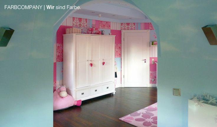 Raumgestaltung Eines Traum Kinderzimmers. Malerarbeiten Hannover.  Wandgestaltung. Farbgestaltung. Wohnraumgestaltung. Farbkonzept.