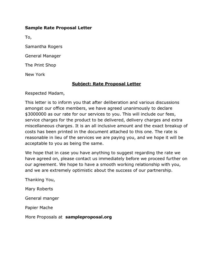 Best 25+ Proposal letter ideas on Pinterest Sample proposal - business offer letter template