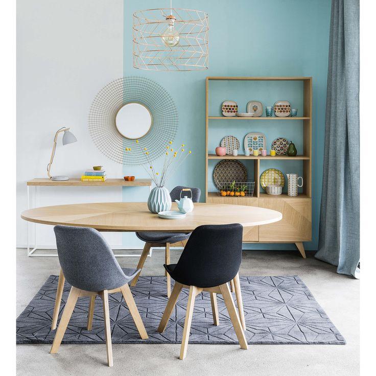 Silla escandinava gris jaspeado salon nel 2019 tavoli da pranzo rotondi idee per interni e - Tavoli da pranzo ovali ...