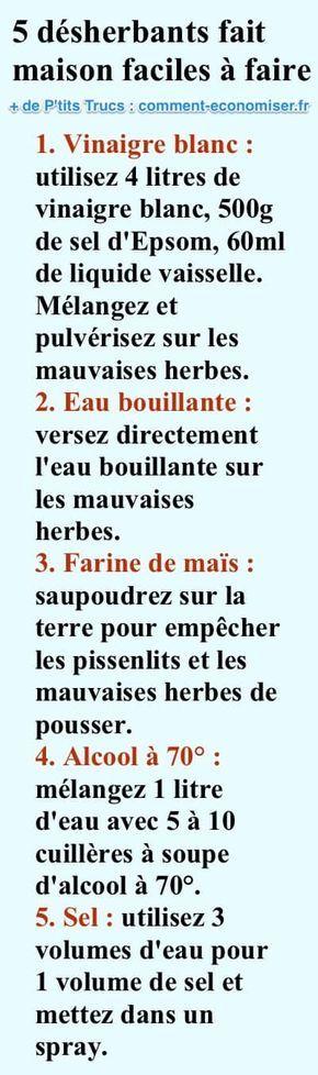 5 Désherbants Faits Maison Que Toutes les Mauvaises Herbes DÉTESTENT.