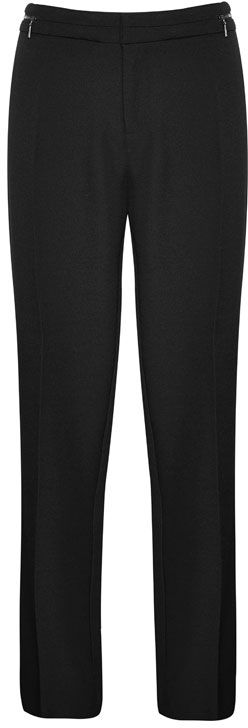 Liz Jordan Zipper Pant $89.95 AUD  Two-Way flat front pant style includes fly front and 2 hooks for fastening, zip waist detail 96% Polyester 4% Spandex  Item Code: 046397