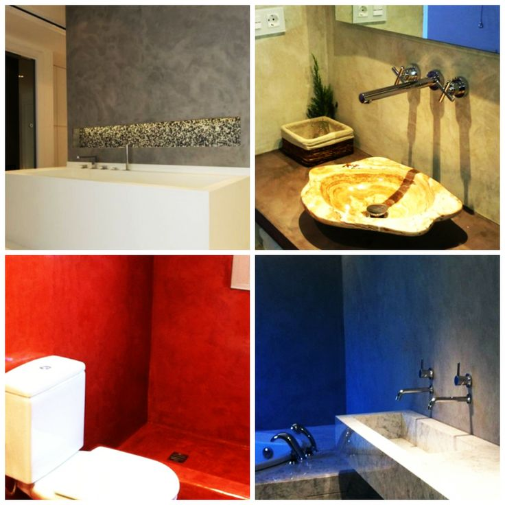 167 best images about ba os microcemento on pinterest - Microcemento sobre azulejos ...