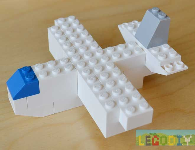 LEGO Plane Instruction. It's our second plane, like Boeing. Photo - step by step