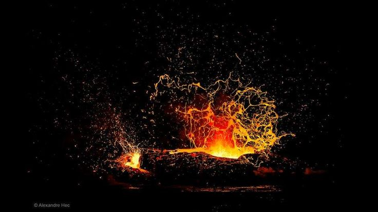 O vulcão Kilauea, na ilha havaiana Big Island, oferece uma visão espetacular quando sua corrente de ... - Bereitgestellt von Deutsche Welle