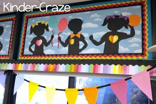 child-friendly decorations in kindergarten classroom from schoolgirl style