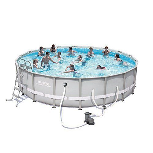 Swimming Pool For Family Outdoor Steel Frame Pool Set 18 feet w/ All Accessories #Bestway