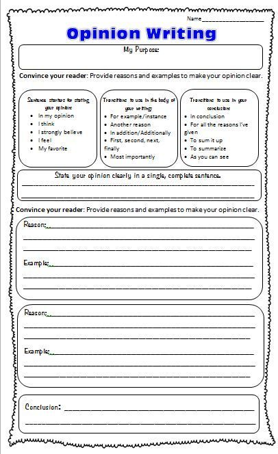 Writing opinion essay prompts
