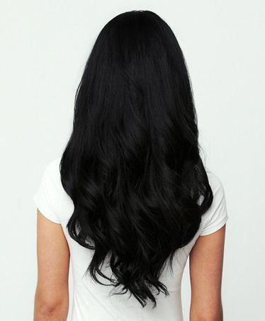 Jet Black - 1: I love jet black hair!
