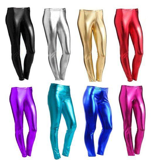 Femmes - Leggings look mouillé métallique longueur intégrale brillant grande taille: Amazon.fr: Vêtements et accessoires