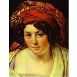 Portrait of a Woman in Turban. c. 1820: 1800 1890 Faces, Historical Interpretation, Makeup Morgue