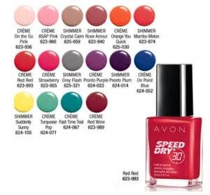 Avon Speed Dry Nail Polish color chart shop Avon Speed Dry Nail Polish regularly $7 online at www.youravon.com/my1724  #AVON #SHOPAVONONLINE #SHOPONLINE #ONLINESHOPPERS #BLOG  #WEDDINGGIFTS #GIFTS #AVONPRODUCTS #AVONCATALOG #WEDDING #COLLEGESTUDENTS #WOMEN #NAILPOLISH #AVONNAILPOLISH #SPEEDDRYNAILPOLISH #AVONSPEEDDRYNAILPOLISH